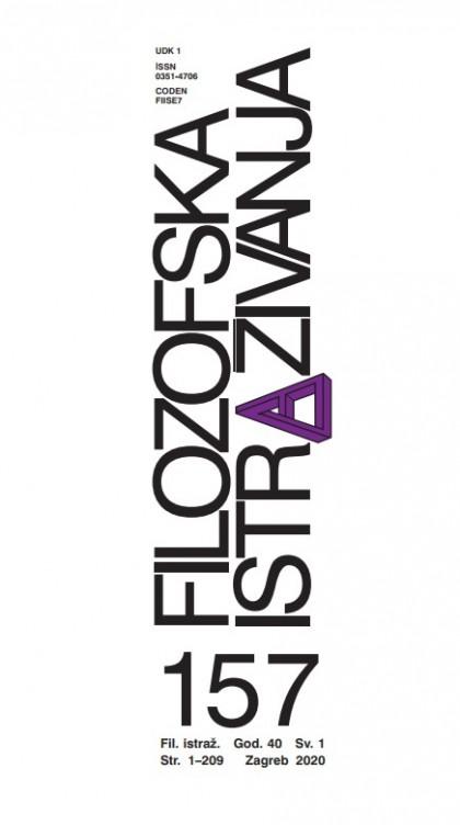 Filozofska istraživanja 157 (1/2020)